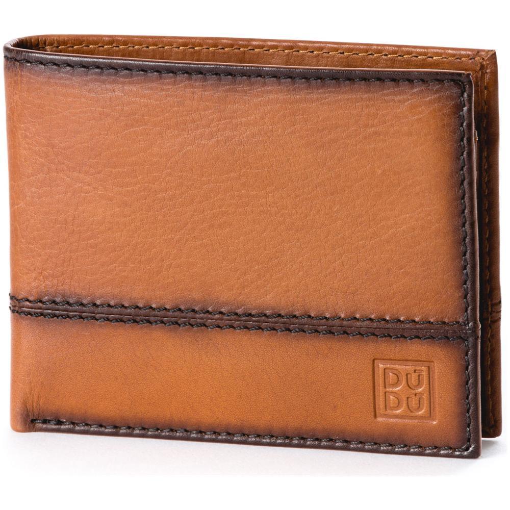 02abc91e3d DuDu - Portafoglio Uomo In Vera Pelle Portamonete Carte Di Credito E Carta  D'identità Dudu Marrone Chiaro - ePRICE