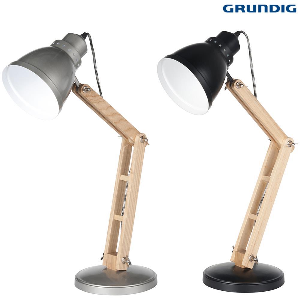 Lampada Da Scrivania Legno.Grundig Lampada Da Tavolo Scrivania Studio 65 Cm Struttura In
