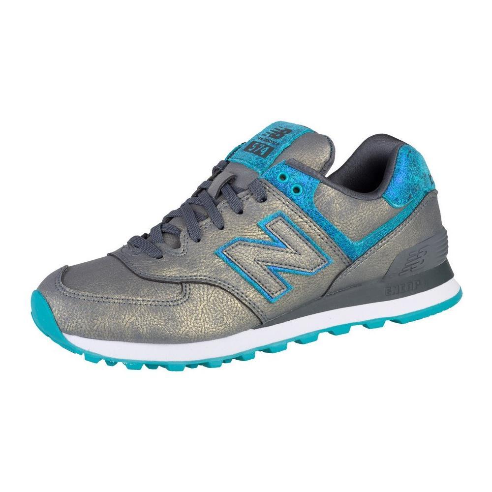 New Balance WL574MGC WL574MGC azzuro scarpe basse