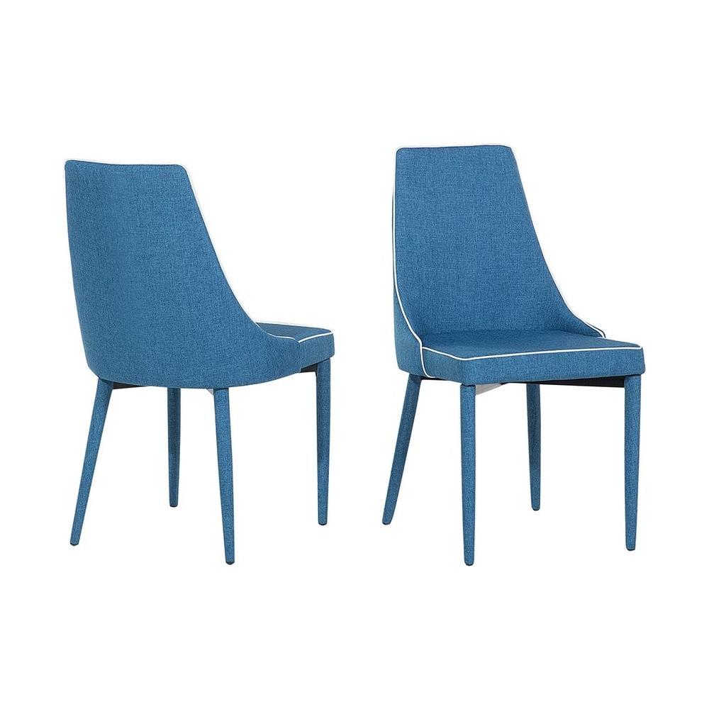 Beliani - Set Di 2 Sedie In Tessuto Blu Scuro Camino - ePRICE