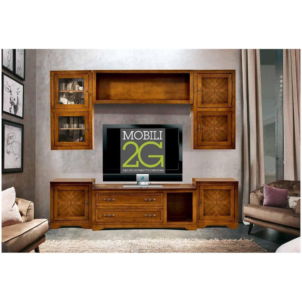 Mobili 2G - Interparete / porta Tv / libreria / soggiorno Noce 260 ...