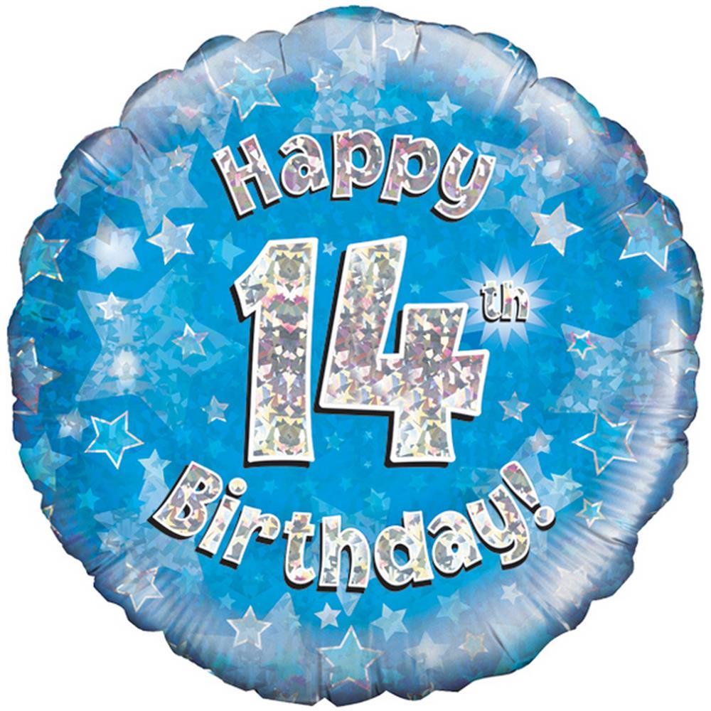 Oaktree Palloncino Blu Di Buon Compleanno 14 Anni Taglia Unica