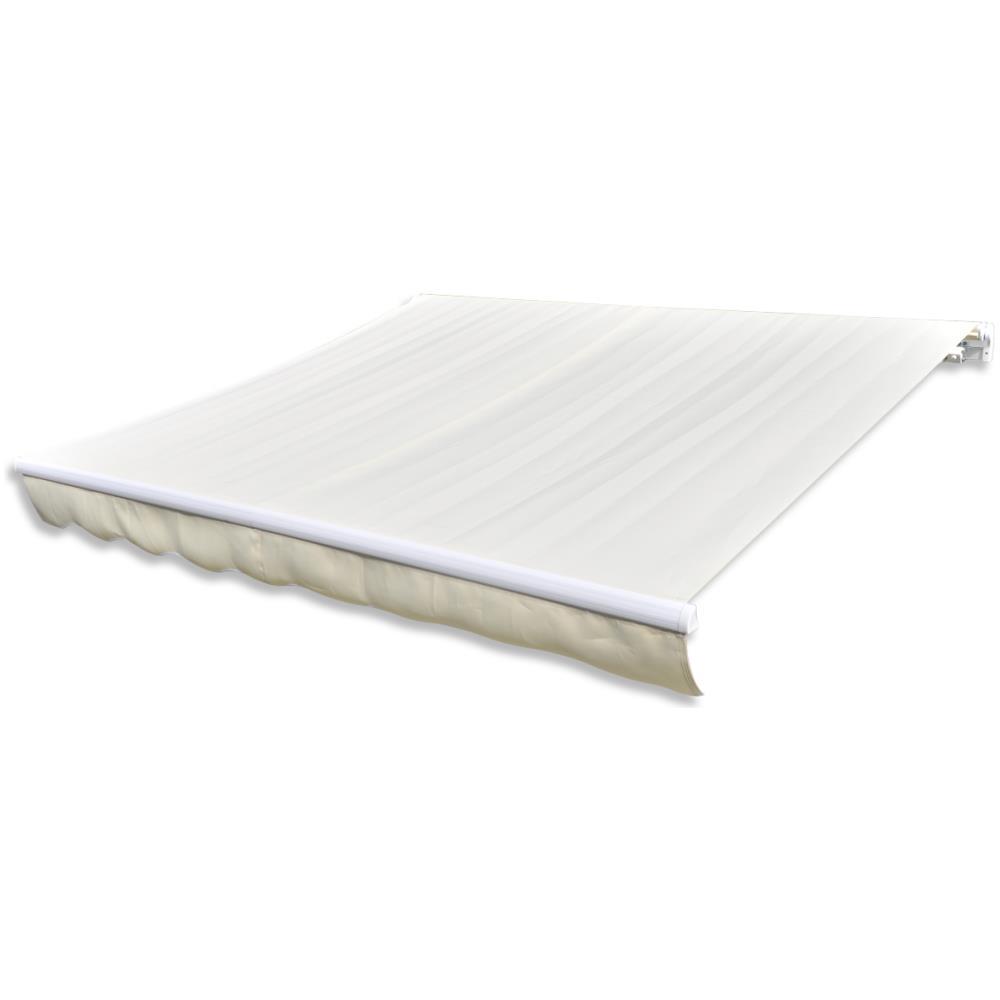 Telaio Non Incluso vidaXL Tendone Superiore Parasole Crema 4 x 3 m