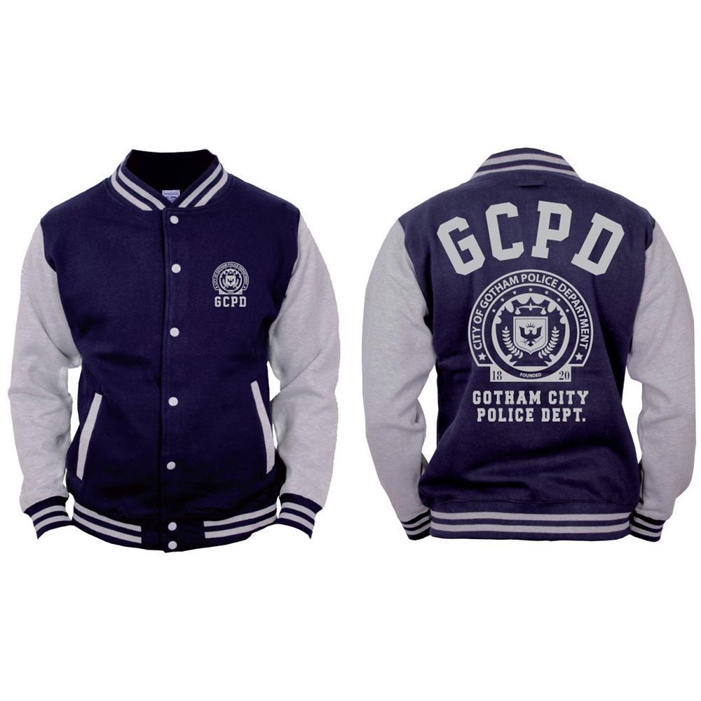 Batman - Gotham Police Department - Blu / Grigio (Giacca College Unisex Tg. L)