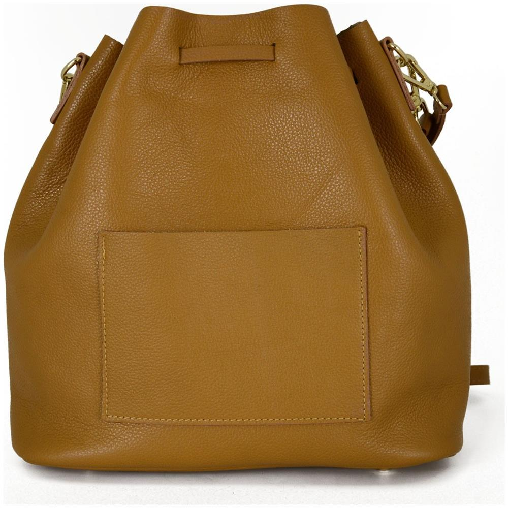 Dream Leather Bags Borsa A Secchiello In Vera Pelle Con Chiusura Con Coulisse ? Patricia Colore Cognac Pelletteria Toscana Made In Italy Borsa