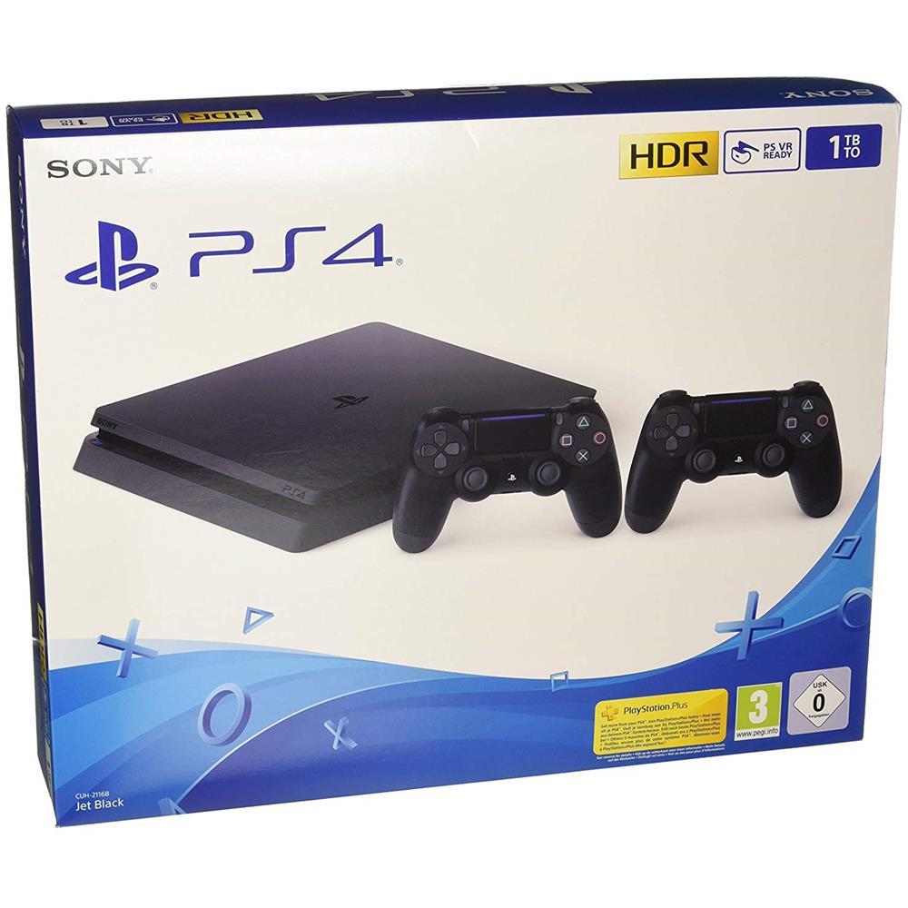 Console Playstation 4 1 TB F Nero + 2 Controller DualShock 4