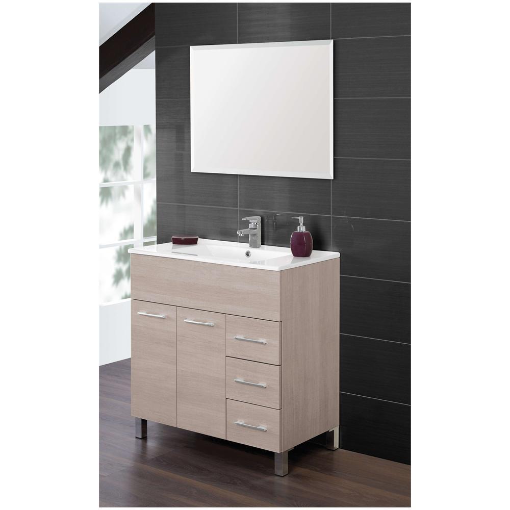 FERIDRAS - Arredo bagno con mobile lavello in rovere chiaro con ...