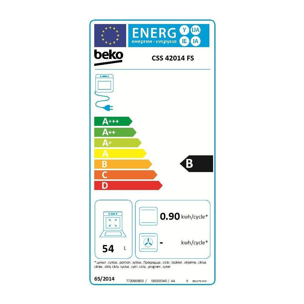Beko È Una Sottomarca beko cucina elettrica css42014fs 4 fuochi a gas forno elettrico classe b  dimensioni 50 x 50 cm colore inox