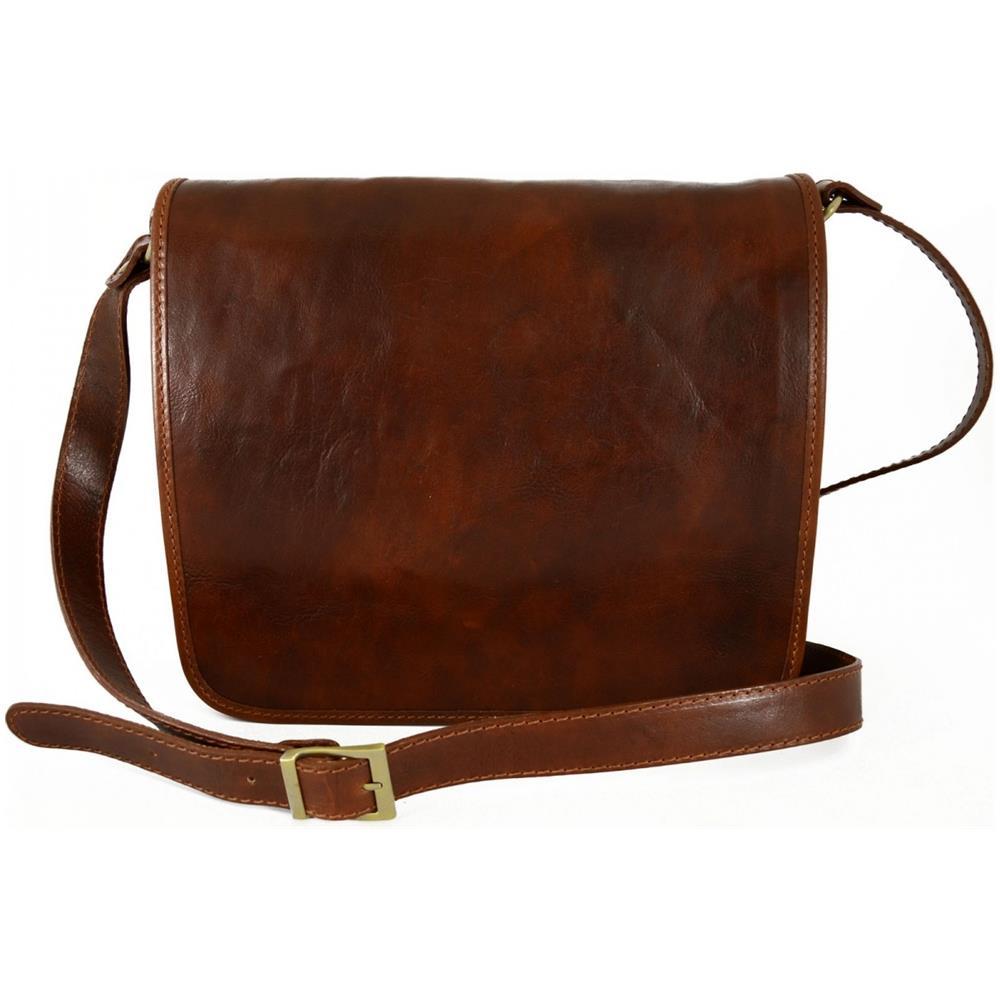 Dream Leather Bags Borsa Messenger In Vera Pelle 2 Scomparti Taglia Media    Scott Colore Marrone. Zoom d2e7dee0720