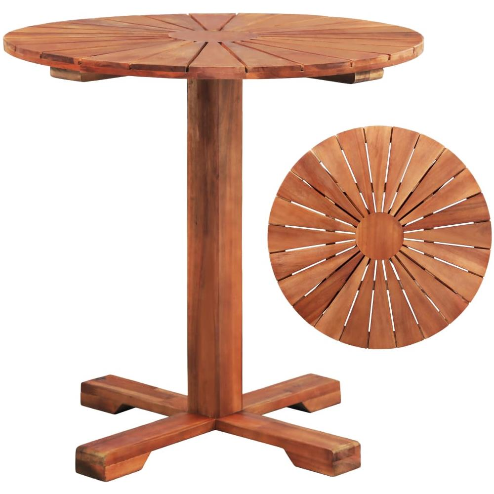 Tavolo Con Piede Centrale vidaxl tavolo a piede centrale legno massello acacia 70x70 cm rotondo