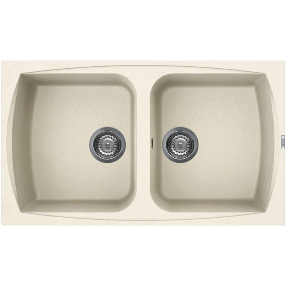 ELLECI Lavello Cucina Granitek 2 Vasche Bianco Antico Serie Living