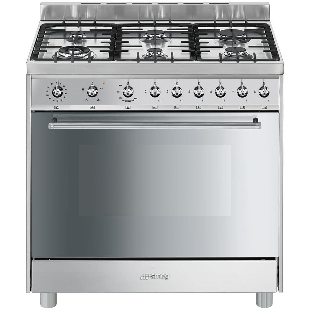 Smeg CC92MX9 Dual Fuel Range Cooker in Stainless Steel