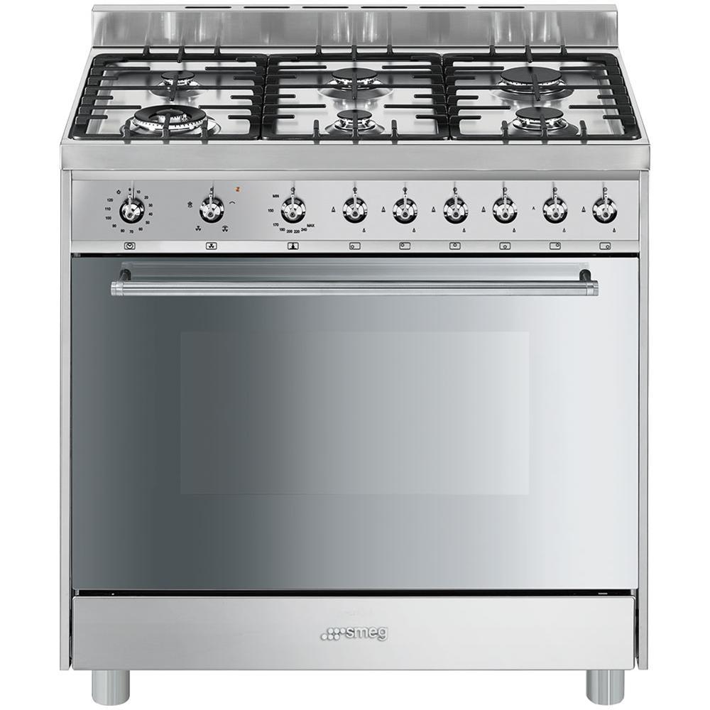 SMEG - Cucina A 6 Fuochi Gas C9GVXI9 Forno A Gas Ventilato Classe A ...