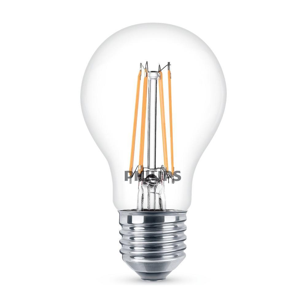 Lampade A Led A Filamento.Philips Lampadina Led Stile Vintage Attacco E27 7 5w Equivalenti A 60w Goccia Filamento Luce Naturale Bianca Calda