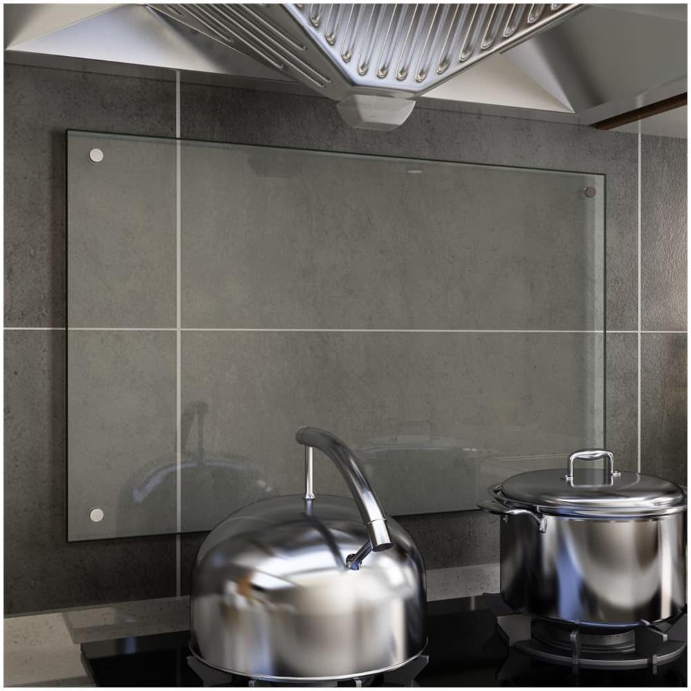 Vidaxl Paraschizzi Per Cucina Trasparente 80x50 Cm In Vetro Temperato Eprice