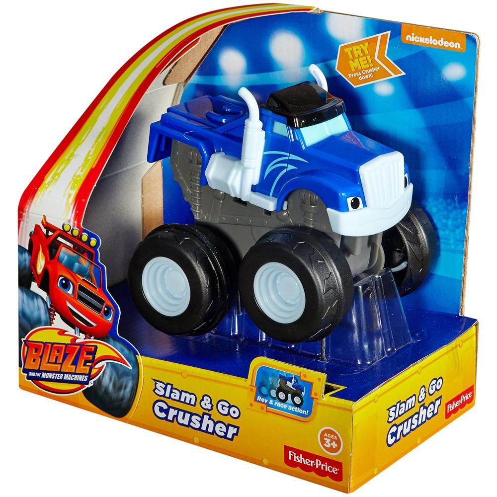 BLAZE CGK24 Fisher-Price Crusher Schiaccia e Sfreccia Veicolo Blu automobilina