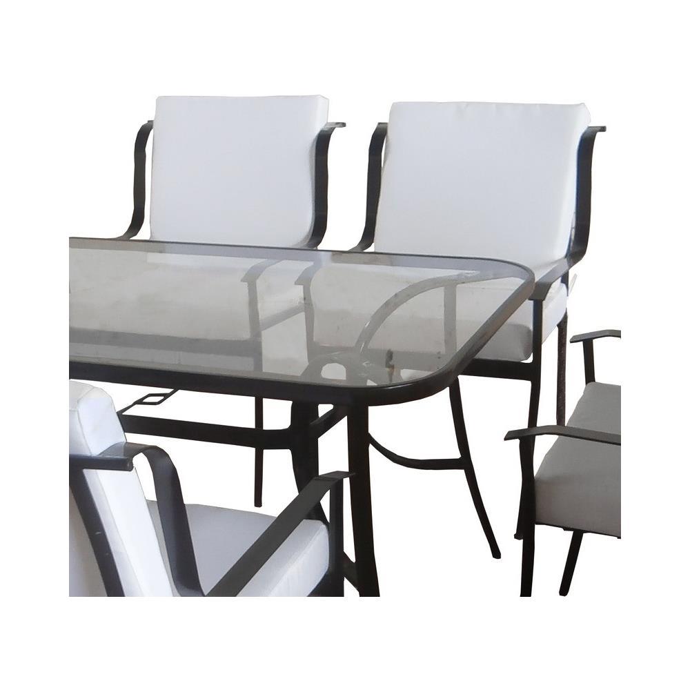 Tavolo In Vetro Con 6 Sedie.Loyalprice Tavolo Da Giardino Con 6 Sedie Ferro Per Esterno