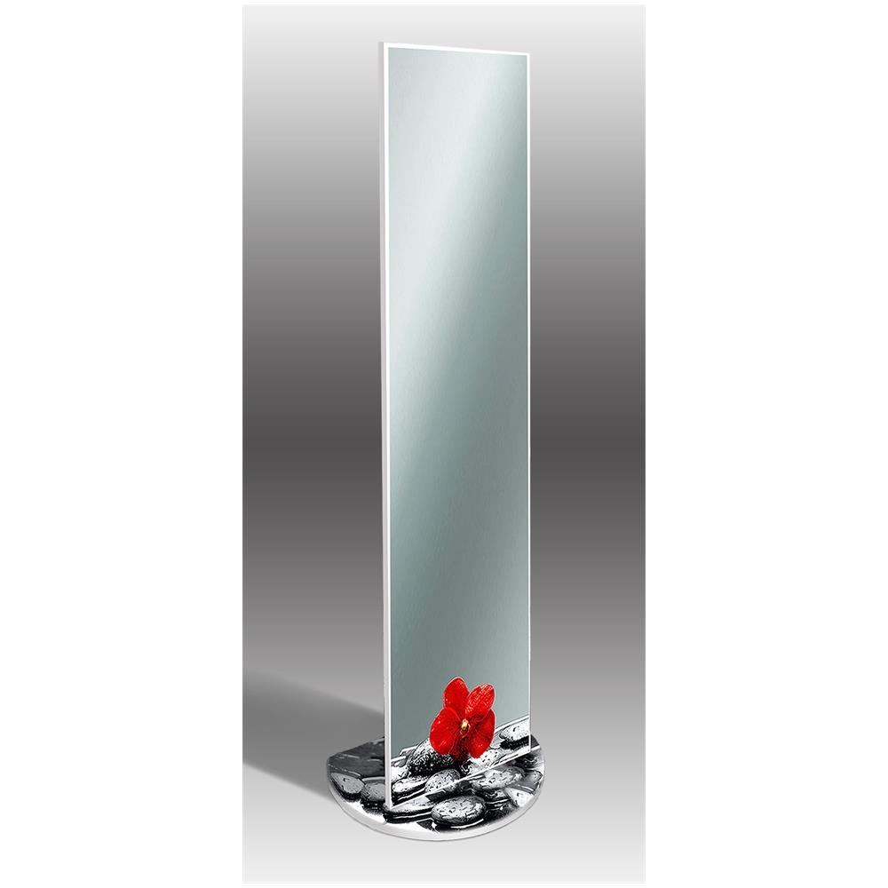 Specchio Da Terra.Lupia Specchio Da Terra Con Riproduzione Artistica 40x160 Cm Mirror Original Orchidea Rossa