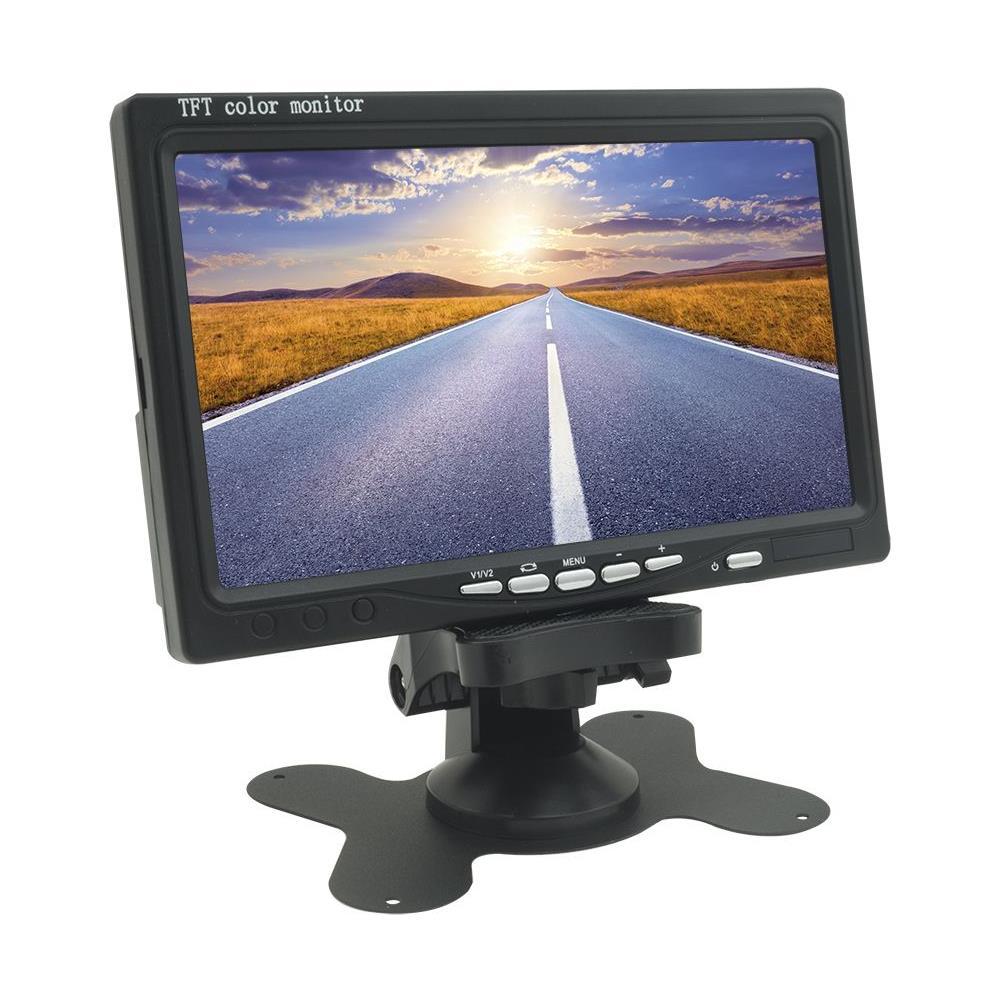 """Monitor LCD TFT 7/"""" a colori per auto con alimentatore 12V"""