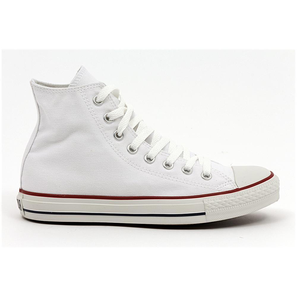 Converse All Star Hi Optic White Scarpe Uomo Donna Bianche Alte Tela 7650 numero 46