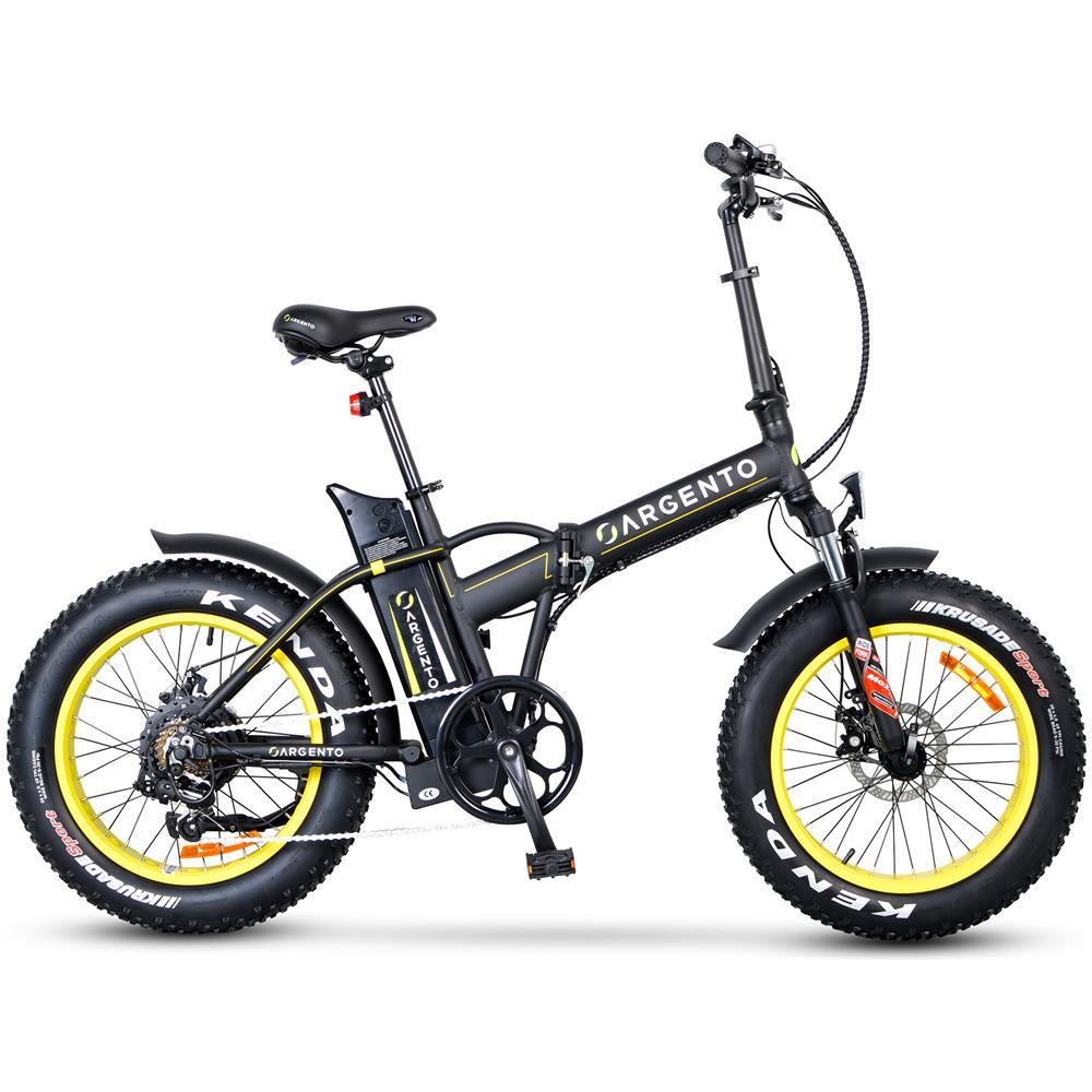 Argento Bike Fat Bike Bicicletta Elettrica Pieghevole A Pedalata