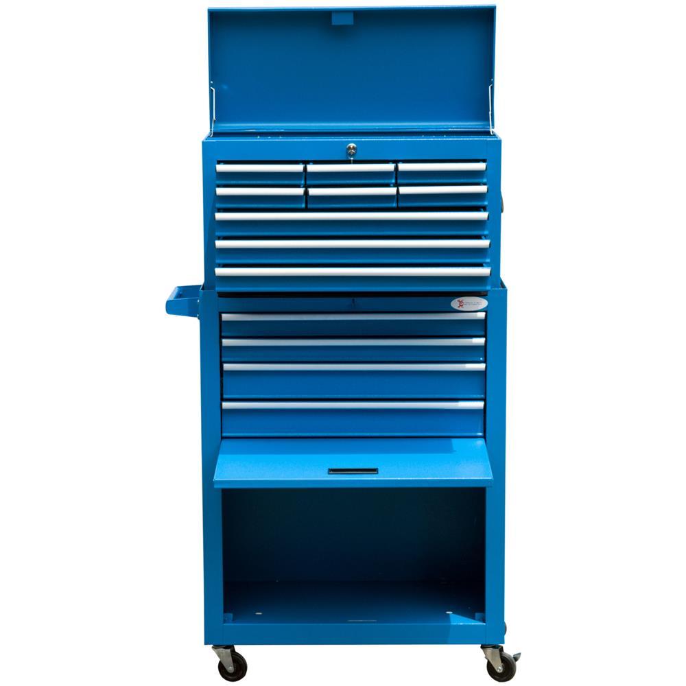 461274f5f4 Durhand - Carrello Portautensili Con Cassetta Rimovibile, Blu,  61.6x33x118cm - ePRICE