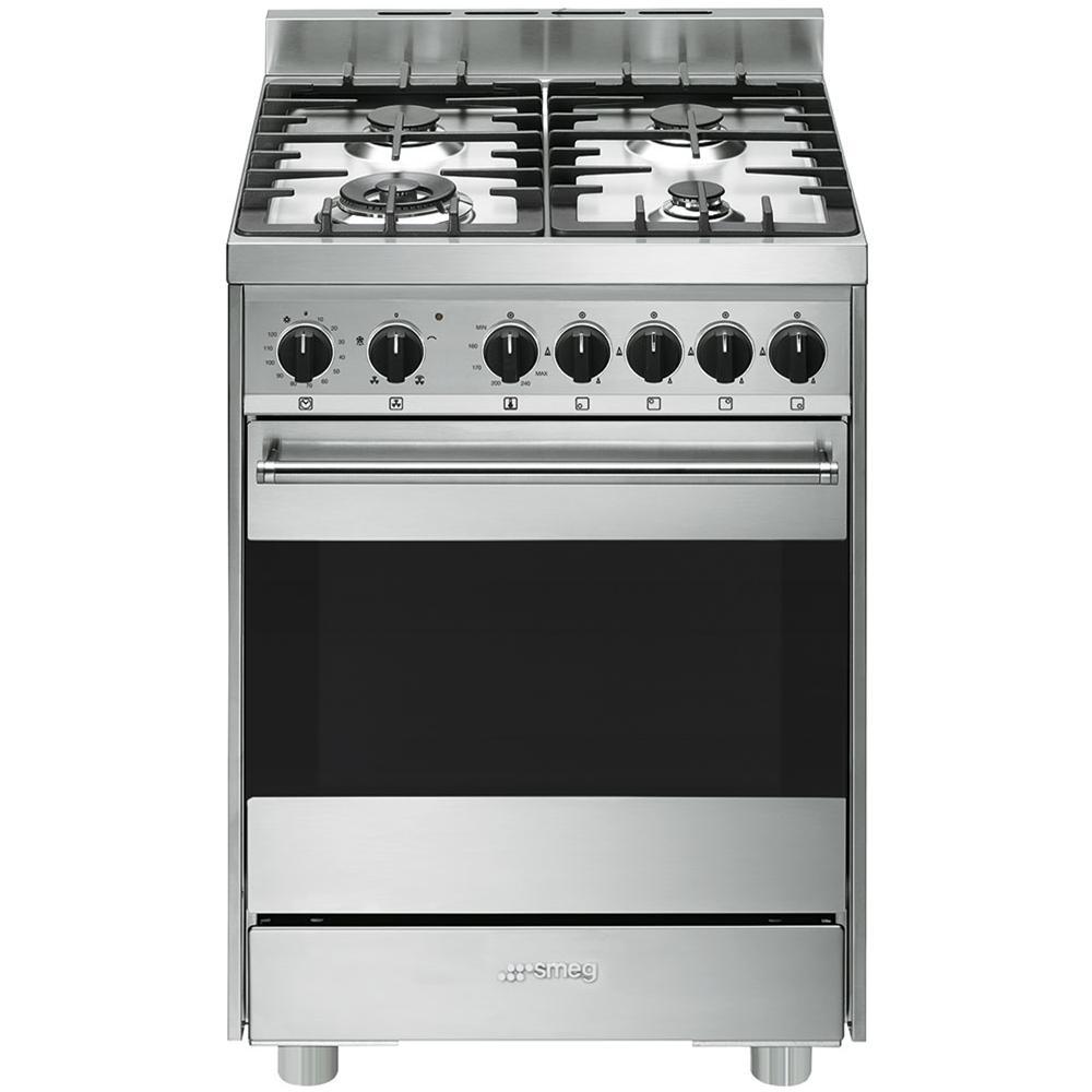 SMEG - Cucina Elettrica B6GVXI9 4 Fuochi a Gas Forno Elettrico ...