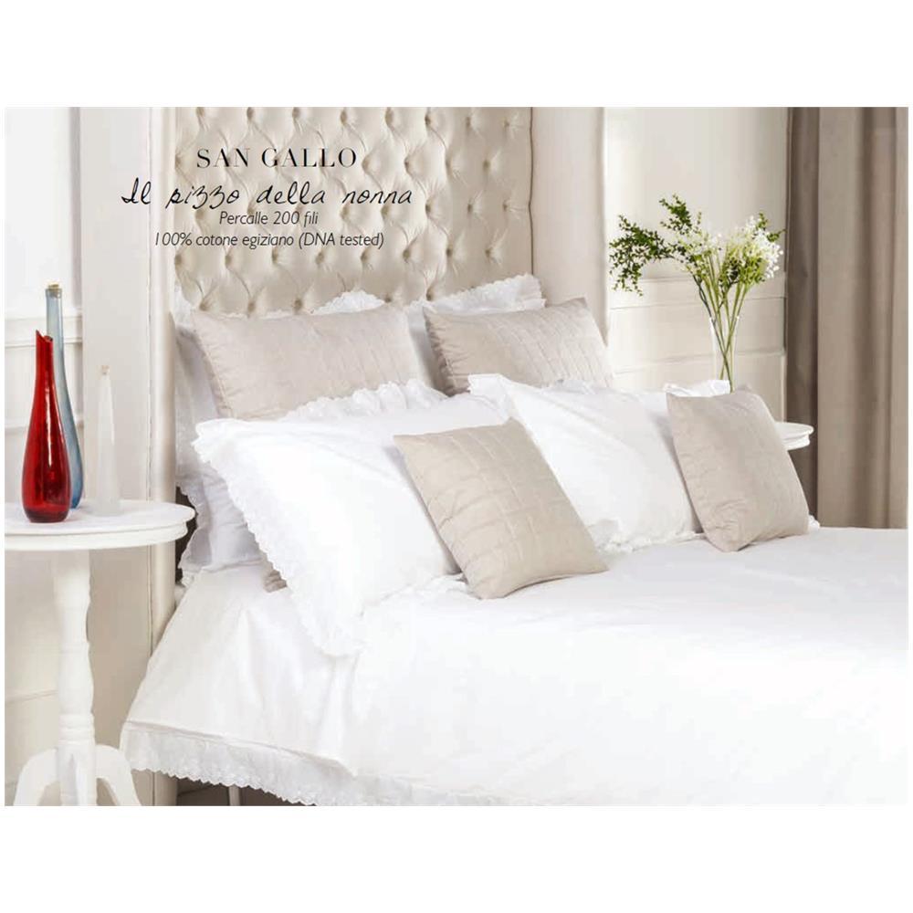 Copripiumino Matrimoniale Bianco.Givi Lulu San Gallo Elegante E Raffinato Completo Copripiumino