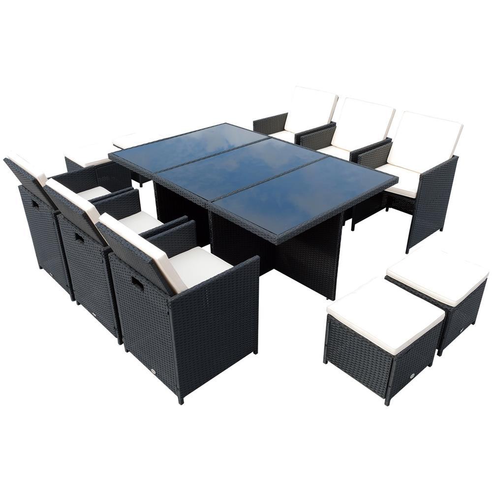 Tavolo Sedie Giardino Rattan.Outsunny Set Mobili Da Giardino Rattan Set Tavolo 6 Sedie 4