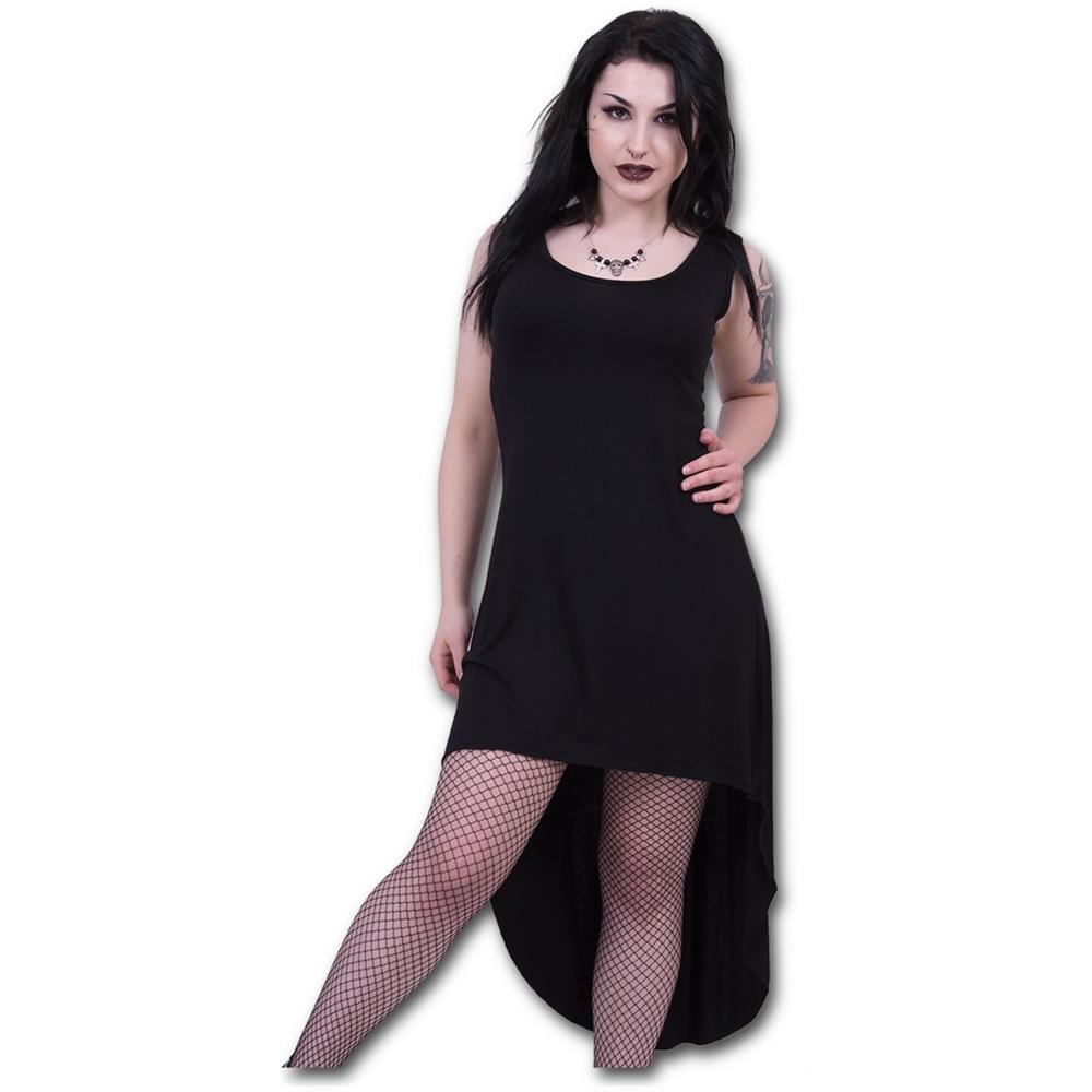- Gothic Elegance - Gothic High-Low Hem Black (Vestito Donna Tg. 2XL)