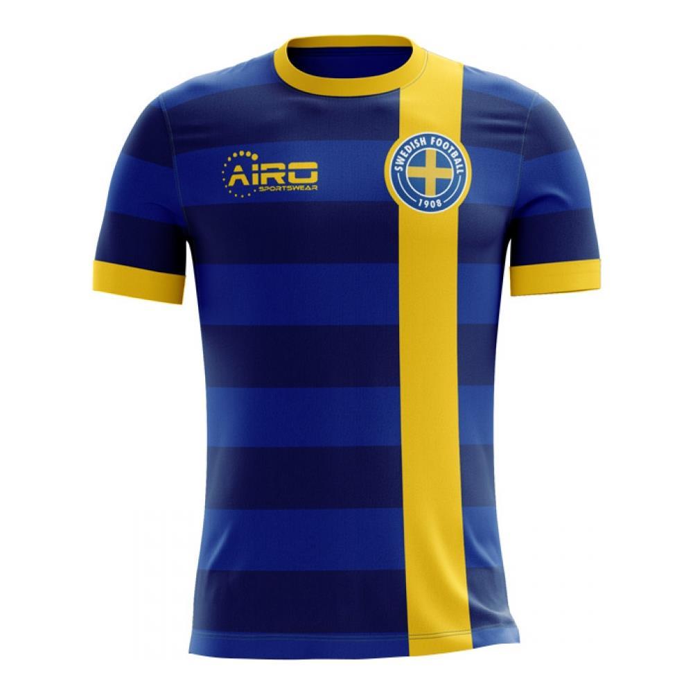87a494222 Airo Sportswear - 2018-2019 Sweden Away Concept Football Shirt (kids) - L  Ragazzo - ePRICE