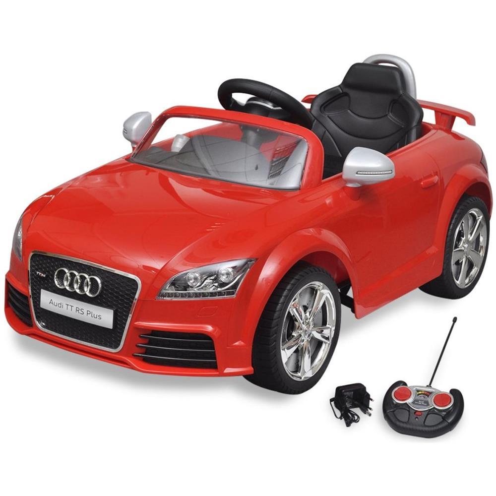 Vidaxl Audi Tt Rs Macchina Cavalcabile Telecomandata Per Bambini Rossa Eprice