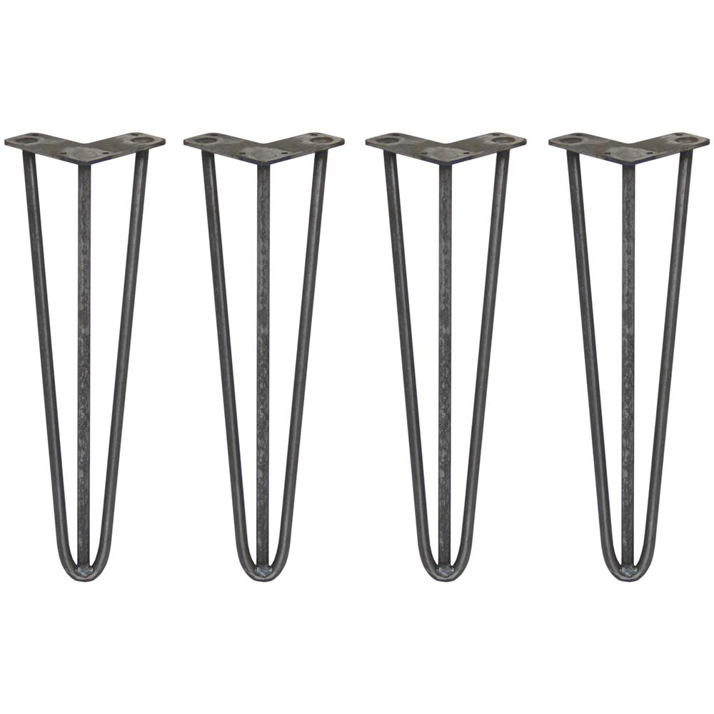 Coppia Gambe In Acciaio Color Alluminio Per Tavolo A Penisola