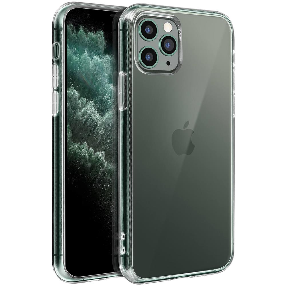 MOCCA Cover Apple Iphone 11 Pro Trasparente Dorso Rigido Bordi Antishock