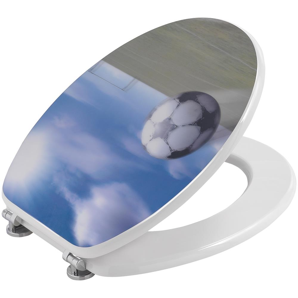 Gelco 709135/Army Sedile WC Decorato Legno//Acciaio Inox Carbonio 46/x 37/x 5,5/cm