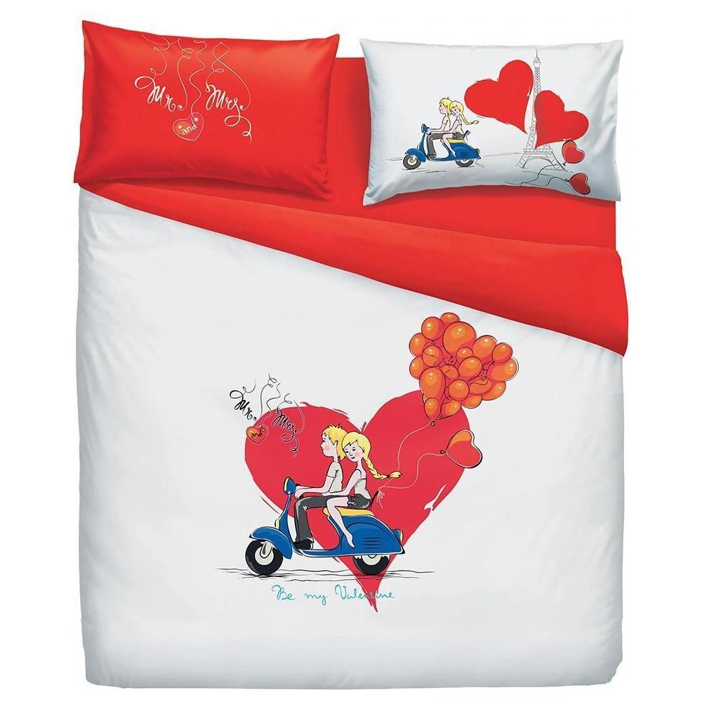 Lenzuola Copripiumino Bassetti.Bassetti Completo Copripiumino Mr And Mrs Love Bassetti