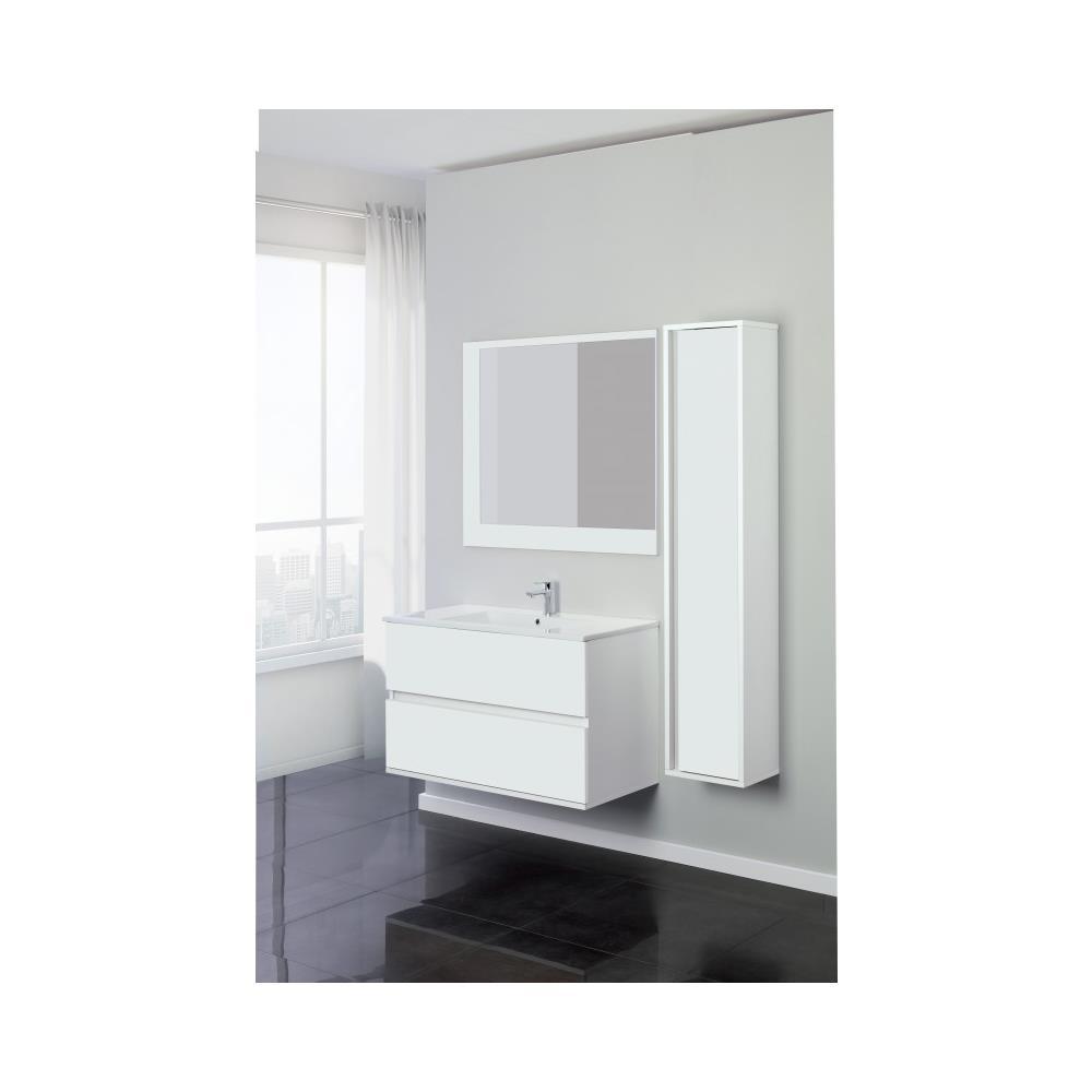 Feridras Composizione Bagno Serie Fabula 90 Cm Sospesa Color Bianco Laccato Eprice