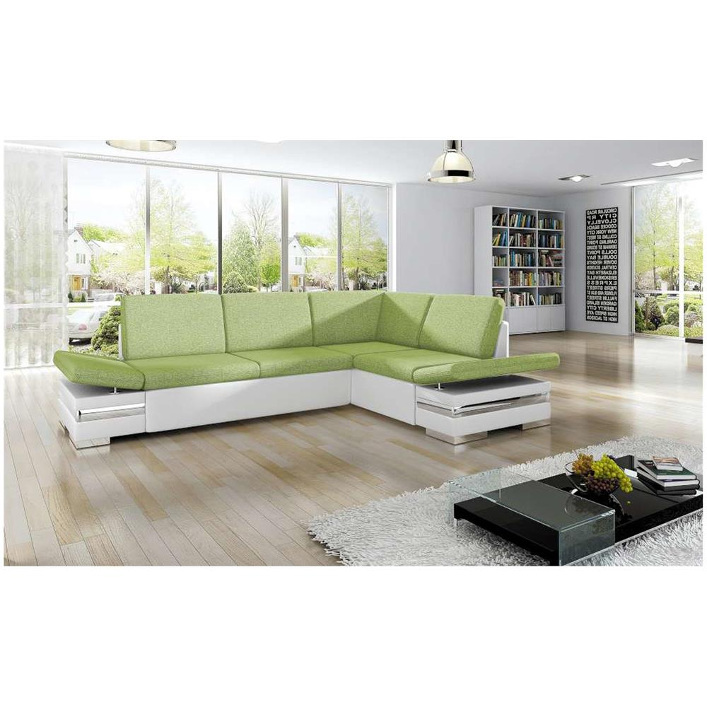 JUSTyou - LATINO Divano angolare Bianco Verde I - ePRICE