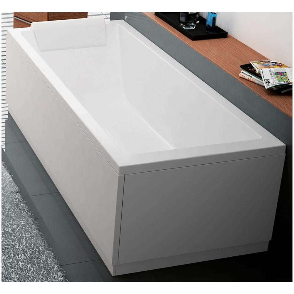 Vasca Da Bagno Misure Standard novellini calos 2.0 vasca da bagno versione standard con telaio misura  170x75 altezza 58 cm installazione reversibile design squadrato forma