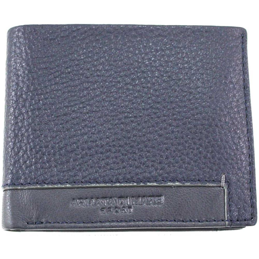 a9d075315c ARMATA DI MARE - Portafoglio Uomo Pelle Modello Piccolo Portamonete Pf 504-9  Blu - ePRICE
