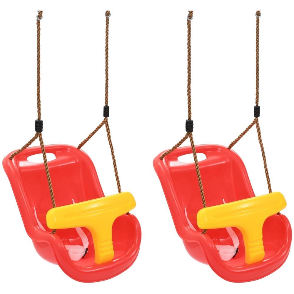Altalena Giardino Ikea vidaxl altalena per bambini 2 pz con cintura di sicurezza in pp rossa