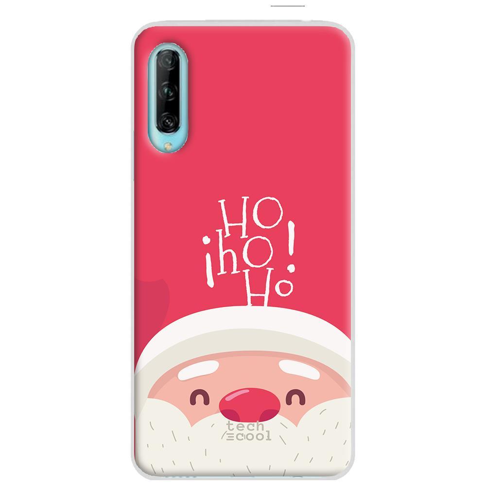 Techcool Cover, Custodia Per Huawei P40 Lite L Silicone Babbo Natale Ho Ho Ho
