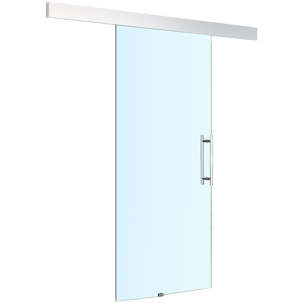 Homcom Porta Scorrevole In Vetro Per Interni 200 Cm 213cm Eprice