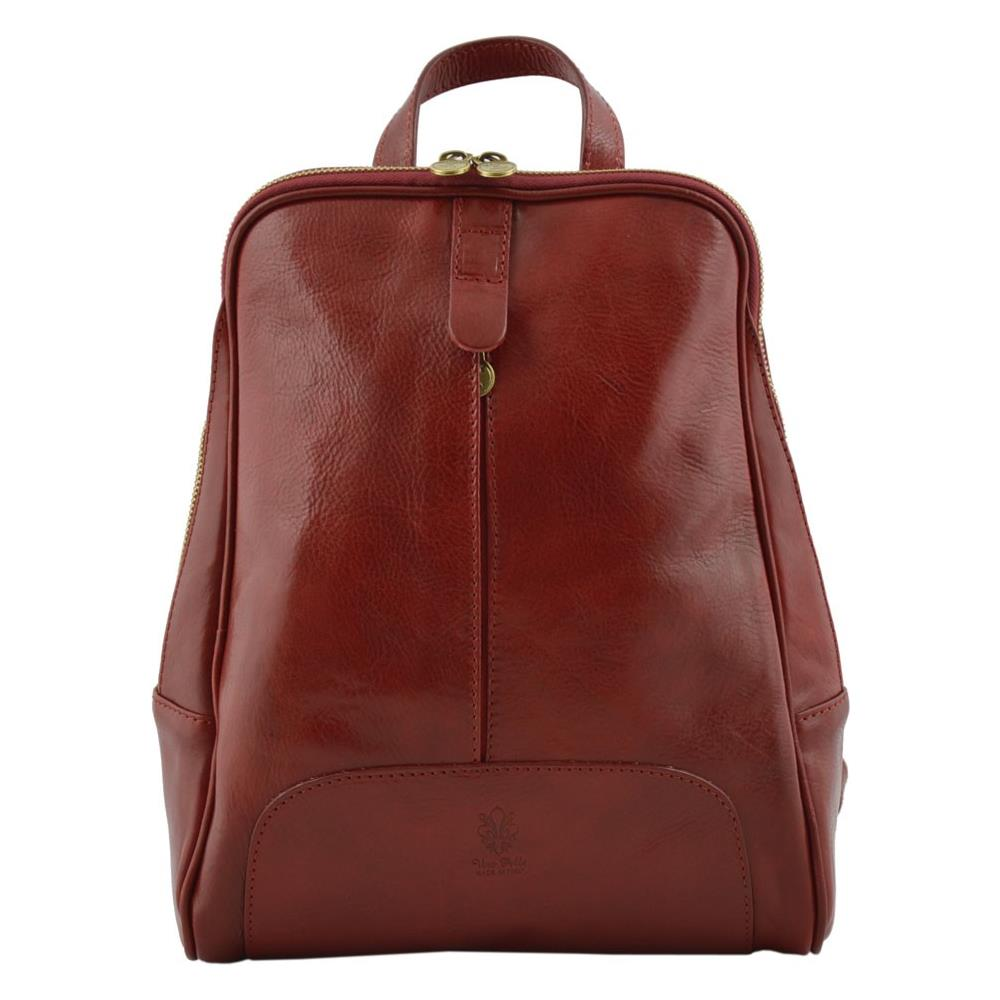 73602deb5c Dream Leather Bags - Zaino Donna In Vera Pelle Colore Rosso - Pelletteria  Toscana Made In Italy - Zaino - ePRICE