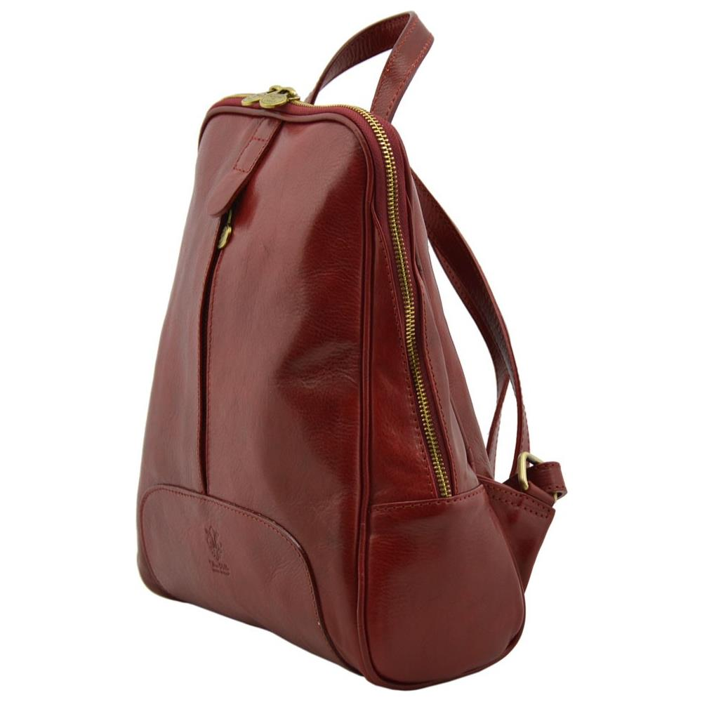 951b438138 Dream Leather Bags Zaino Donna In Vera Pelle Colore Rosso - Pelletteria  Toscana Made In Italy - Zaino