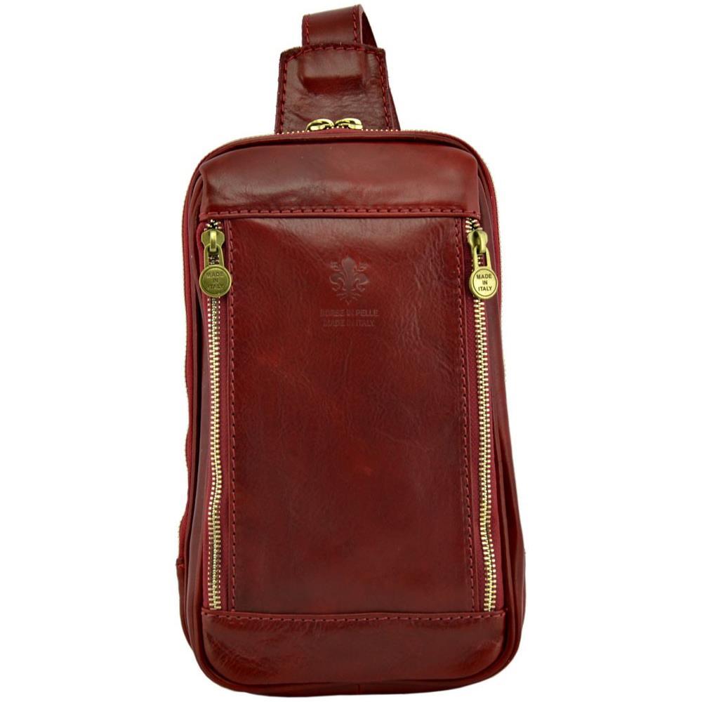 cb24bf0626 Dream Leather Bags - Borsello Monospalla In Vera Pelle Colore Rosso - Pelletteria  Toscana Made In Italy - Borsa Uomo - ePRICE