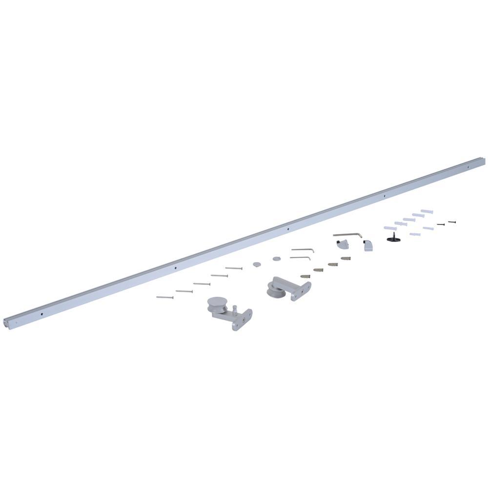 HOMCOM - Kit Binario Per Porta Scorrevole In Lega Di Alluminio ...