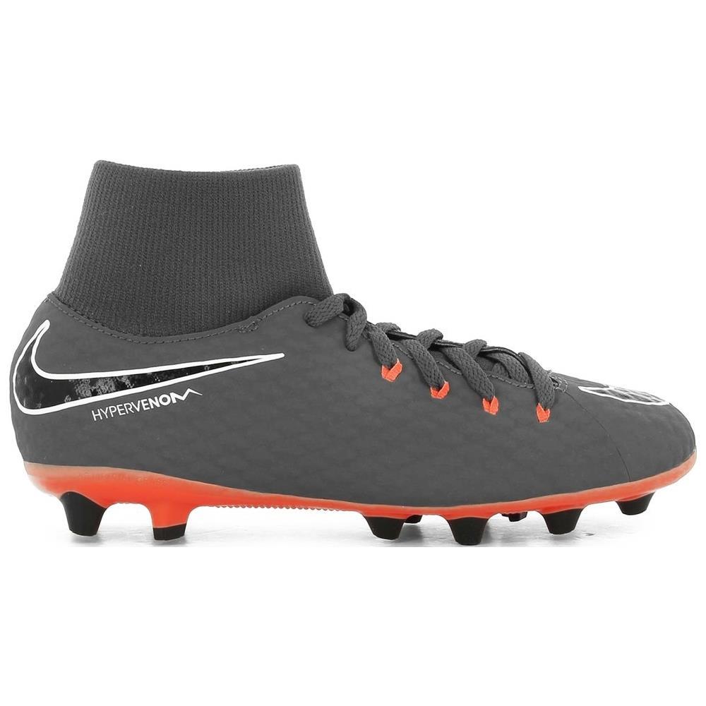 NIKE Scarpe Calcio Bambino Nike Hypervenom Phantom Iii Academy Ag Pro Fast Af Pack Taglia 36 Colore: Grigio arancio