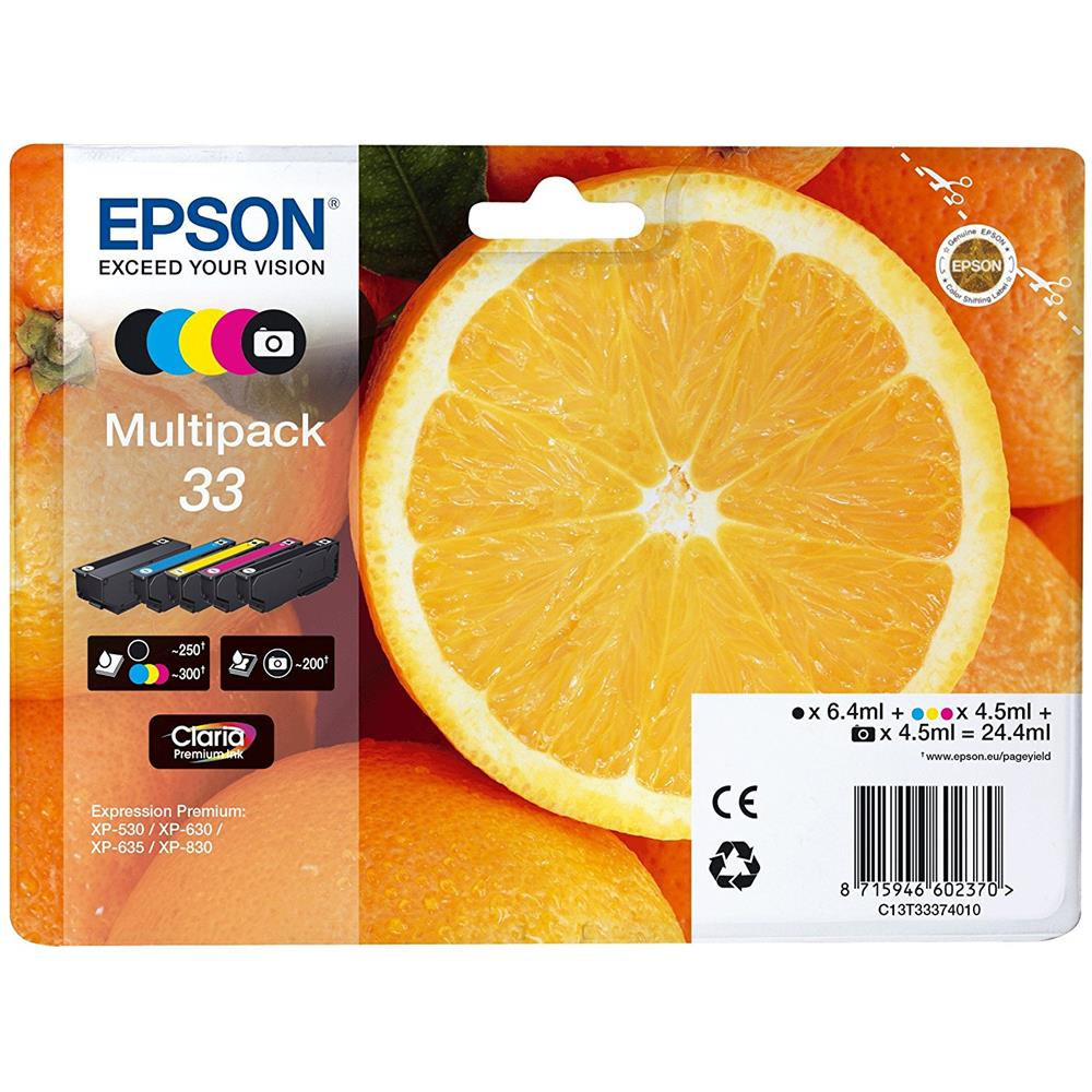 EPSON - NEW CONSUMER INK (SX) 33 5-COLOURS MULTIPACK .