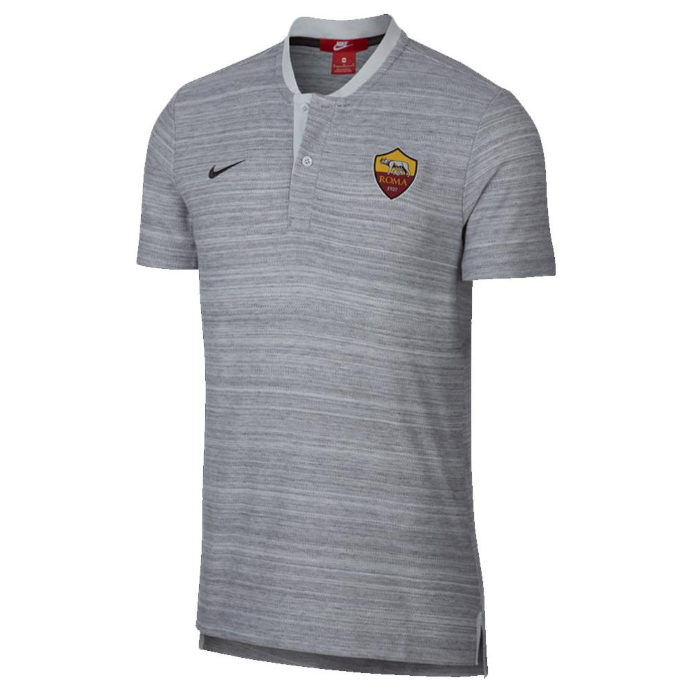 4ce55e31 NIKE - 2018-2019 As Roma Nike Authentic Grand Slam Polo Shirt (grey) -  Small 34-36 \ inch Chest (88/96cm) - ePRICE